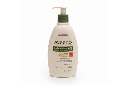 No. 9: Aveeno Daily Moisturizing Lotion With Sunscreen, $8.99