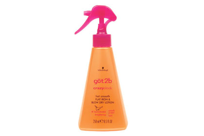 No. 8: Got2b CrazySleek Hot Smooth Flat Iron & Blow Dry Lotion, $3.89