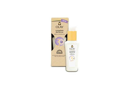 Face: Olay Complete Defense Daily UV Moisturizer, $14.99