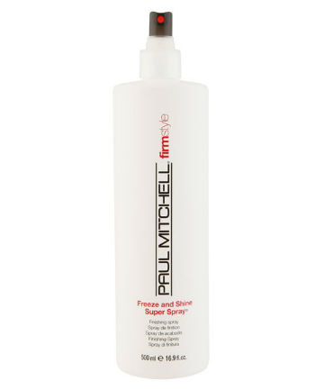 Best Hairspray No. 9: Paul Mitchell Freeze and Shine Super Spray, $11.50