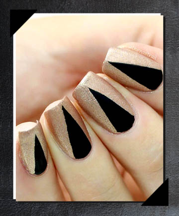Matte Black Peekaboo Nails