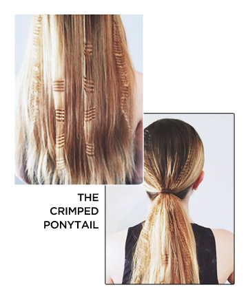 The Crimped Ponytail