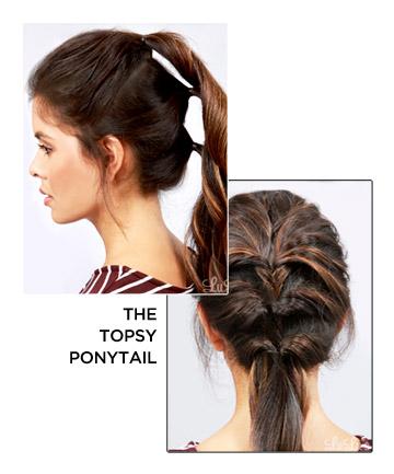 The Topsy Ponytail