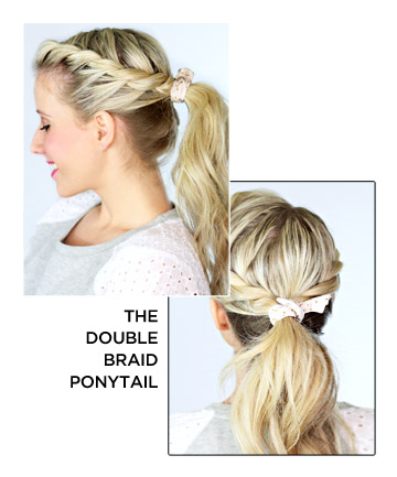The Double Braid Ponytail
