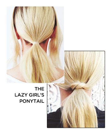 The Lazy Girl's Ponytail