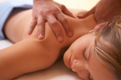 Get a deep tissue massage at the spa