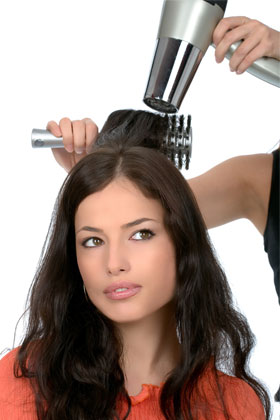 Get professional straightening and relaxing done at a salon