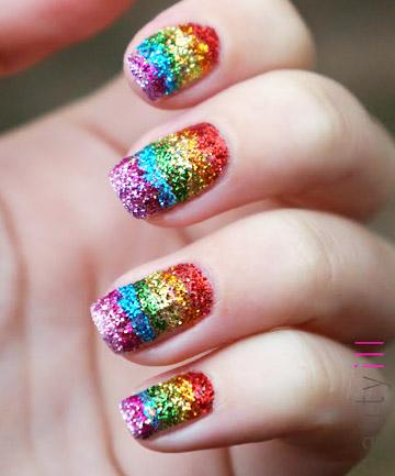 Rainbow Nails Say It With Sparkle 19 Rainbow Nail Designs Thatll