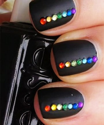 rainbow nails  bejeweled babe 19 rainbow nail designs