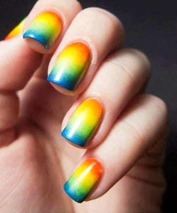 Rainbow Nails: Making the Gradient