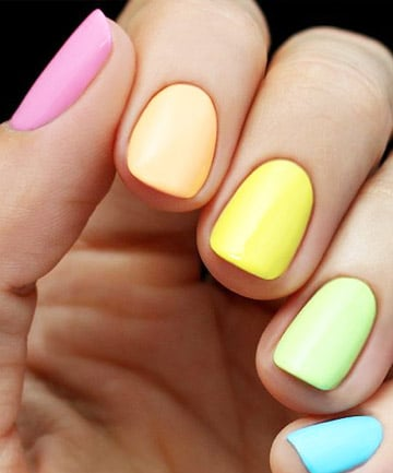 Rainbow Nails A Solid Look 19 Rainbow Nail Designs That