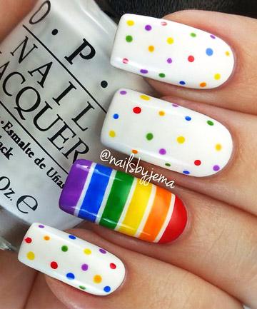 Rainbow Nails: Spot on
