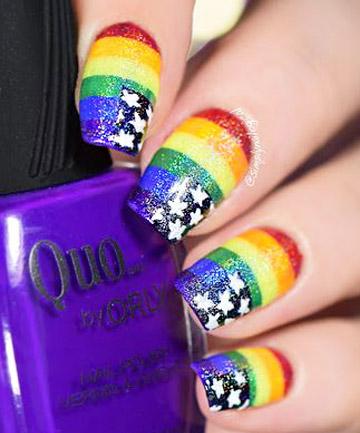 Rainbow Nails 19 Rainbow Nail Art Designs