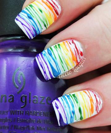 Rainbow Nails Splatter Matter 19 Rainbow Nail Designs Thatll