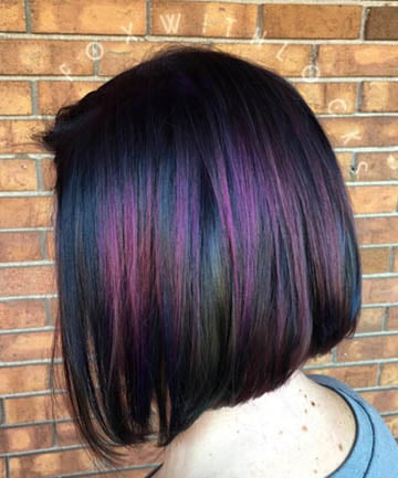 Oil slick hair is the most gorgeous rainbow hair color trend for oil slick hair is the most gorgeous rainbow hair color trend for brunettes solutioingenieria Choice Image