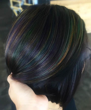 Oil slick hair is the most gorgeous rainbow hair color trend for oil slick hair is the most gorgeous rainbow hair color trend for brunettes solutioingenieria Images