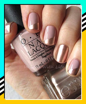 Rose Gold 21 Nail Designs That Make The French Manicure Cool Again
