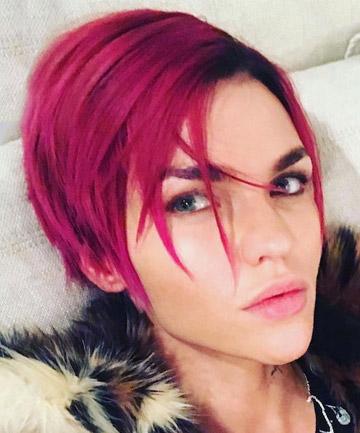 Ruby Rose's Magenta Hair in 2016
