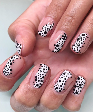Black And White Spots Nail Art 15 Knockout Nail Art Designs For Short Nails Page 15,Design Thinking Empathy Map Examples