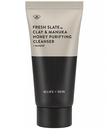 Allies of Skin Fresh Slate Clay & Manuka Honey Purifying Cleanser + Masque, $42