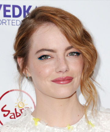 Look of the Day: Emma Stone's Pop-of-Color Eye Makeup