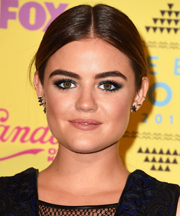 Look of the Day: Lucy Hale's Sapphire Eye Makeup