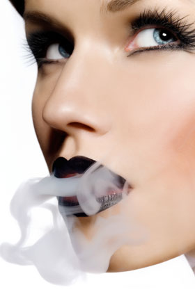 Smoking darkens your lips -- not in a good way