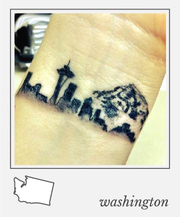 emerald city views 50 tasteful state tattoos to remind you of your roots page 95. Black Bedroom Furniture Sets. Home Design Ideas