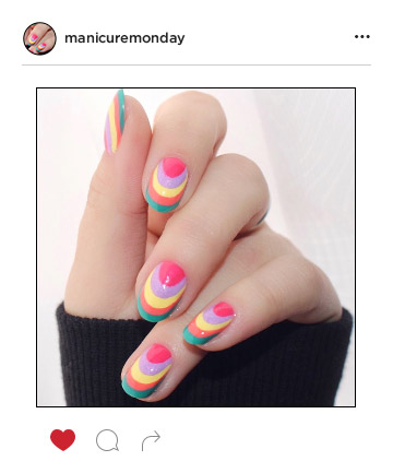Manicure monday best nail art of the week mani of the week rainbow nails prinsesfo Gallery