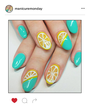 Mani of the Week: Fresh Squeezed Nail Art
