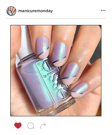 Mani of the Week: Dreamy Diagonals