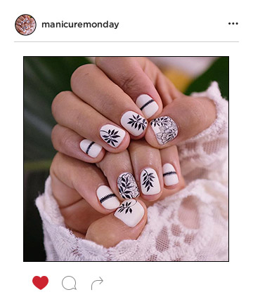 Mani of the Week: Delicate Leaf Designs