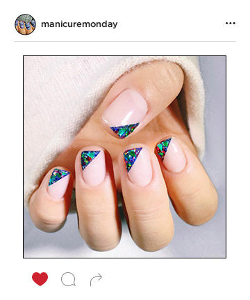 Mani of the Week: Metallic, Multicolor Tips