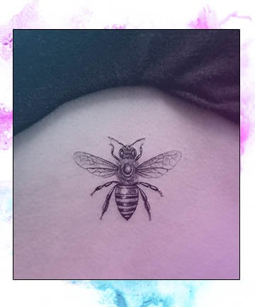 Queen Bee 20 Small Simple Tattoo Ideas That Are Absolutely Stunning