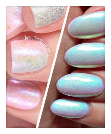 Supreme From Unicorn Inspired Fruccinos To Eyeshadow Palettes It S Officially Time Give Holographic Nails A Try