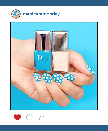 Mani of the Week: Retro Polka Dot Nails