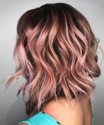 tb rose gold hair 02 - Unique Blonde Hair with Dark Lowlights