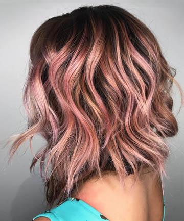 Incandescent Rose Gold Highlights, 19 Rose Gold Hair Color ...