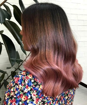 Soft Waves With Deep Pink Ombre 19 Rose Gold Hair Color Looks That