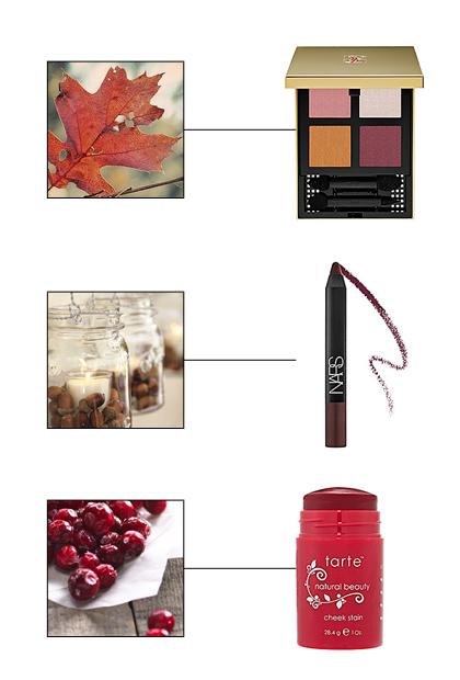 Berry, brown, and orange