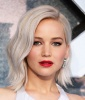 Jennifer Lawrence's Platinum Blonde Lob