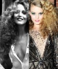 Jerry Hall's Frizzy Spirals