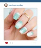 Mani of the Week: SoNailicious' Minty Half Moon