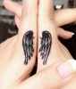 Finger Tattoos: Heavenly Hands