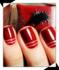 The Red Stripe Manicure