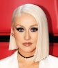Christina Aguilera's Asymmetrical Platinum Bob