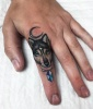 Finger Tattoos: Lone Wolf