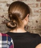 A Low Bun That's High on Style