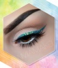Glittery Teal Winged Liner
