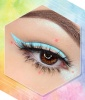 Baby Blue Liner With Pink Accent Dots